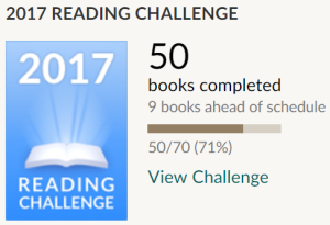 Goodreads Challenge July 2017 2