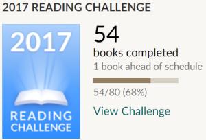 Goodreads Challenge August 2017